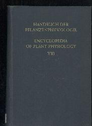 Ruhland,W.(Hsg.)  Handbuch der Pflanzenphysiologie Band VIII: Der Stickstoffumsatz