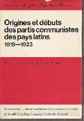 Bahne,Siegfried  Archives de Jules Humbert-Droz I - Orgines et Debuts des Partis