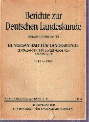 Berichte zur Landeskunde  Inhaltsregister zu Band 1-16