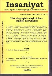 Insaniyat  Historiographie maghrebine: champs et pratiques