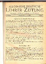 Allgemeine Deutsche Lehrer-Zeitung  Allgemeine Deutsche Lehrer-Zeitung 3.Jahrgang 1951