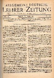 Allgemeine Deutsche Lehrer-Zeitung  Allgemeine Deutsche Lehrer-Zeitung 4.Jahrgang 1952 und eingebunden