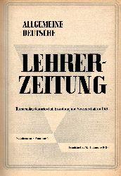 Allgemeine Deutsche Lehrer-Zeitung  Allgemeine Deutsche Lehrer-Zeitung 8.Jahrgang 1956