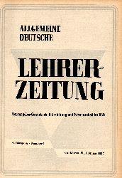 Allgemeine Deutsche Lehrer-Zeitung  Allgemeine Deutsche Lehrer-Zeitung 9.Jahrgang 1957