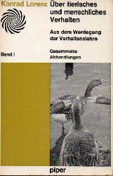 Lorenz,Konrad  Über tierisches und menschliches Verhalten