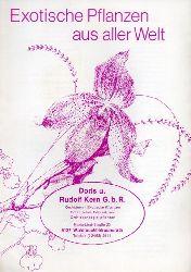Kern,Rudolf und Doris G.b.R.  Exotische Pflanzen aus aller Welt Preisliste 1978