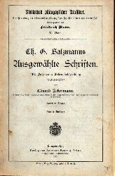 Ackermann,Eduard (Hsg.)  Ch.G.Salzmanns ausgewählte Schriften Zweiter Band