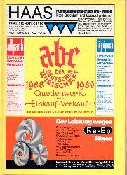 ABC der Deutschen Wirtschaft Verlagsgesell.mbH  ABC der Deutschen Wirtschaft 1988 - 1989