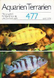 Aquarien Terrarien  Aquarien Terrarien 24.Jahrgang 1977 Heft 2 bis 4 (3 Hefte)