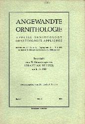 Angewandte Ornithologie  Angewandte Ornithologie Band 3. 1968 Heft 2 (1 Heft)