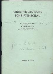 Ornithologische Schriftenschau  Ornithologische Schriftenschau Jahrgang 1970 Heft  1-3 (3 Hefte)