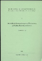 Gerlach,Albrecht  Methodische Untersuchungen zur Bestimmung der