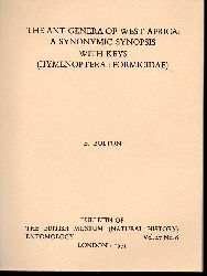 Bolton,Barry  The ant genera od West Africa: A synonymic synopsis with keys