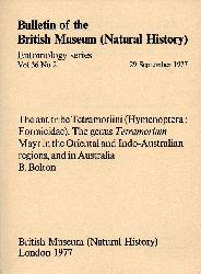 Bolton,Barry  The ant tribe Tetramoriini (Hymenoptera: Formicidae)