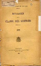 Academie Royale de Belgique  Bulletin de la Classe des Sciences 1899