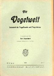 Die Vogelwelt  Die Vogelwelt 80.Jahrgang 1959.Heft 1 bis 6 (6 Hefte)
