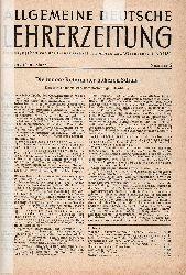 Allgemeine Deutsche Lehrerzeitung  1.Jahrgang 1949 Nr.5 bis 13, Nr, 18, 19, 21/22 und eingebunden