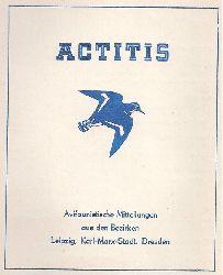 Actitis  Actitis Avifaunistische Mitteilungen aus dem Bezirk Leipzig und