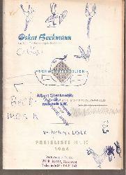 Beekmann,Oskar  Schachutensilien Preisliste Nr. 10 1964