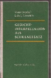 Brandsch,Walter+Ludwig Felsenstein  Gedichtinterpretation als Schulaufsatz