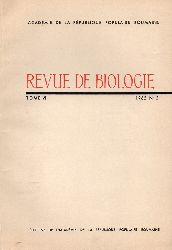 Academie de la Republique Populaire Romaine  Revue de Biologie Tome VII 1962 No. 2