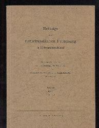Beiträge zur naturkundlichen Forschung in  Südwestdeutschland, Band XX. Heft 1+2. 1961