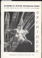 Orchideen  Inhaltsverzeichnis der Arbeitsmaterialien 1966-1975