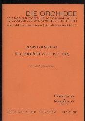 Atzerodt,Marguerite  Die Orchidee Gesamt-Register III der Jahrgänge 22-36 (1971-1985)