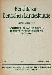 Institut für Landeskunde (Hsg.)  Berichte zur Deutschen Landeskunde 39.Band 1967 2.Heft