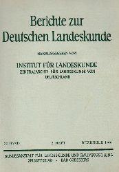 Institut für Landeskunde (Hsg.)  Berichte zur Deutschen Landeskunde 37.Band 1966 2.Heft