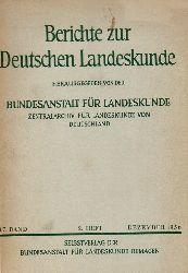 Institut für Landeskunde (Hsg.)  Berichte zur Deutschen Landeskunde 17.Band 1956 2.Heft