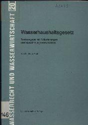 Roth,Horst  Wasserhaushaltsgesetz