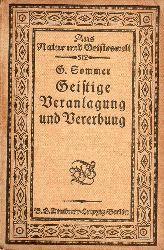 Sommer,Georg  Geistige Veranlagung und Vererbung