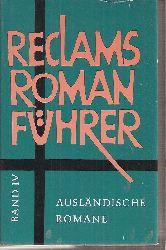 Beer,Johannes (Hsg.)  Reclam Romanführer Band IV