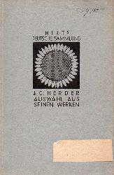 Herder,Johann Gottfried  Auswahl aus seinen Werken