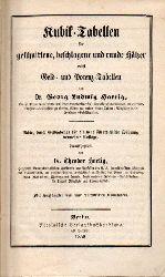 Hartig,Theodor  Kubik-Tabellen für geschnittene, beschlagene und runde Hölzer