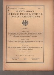 Biologische Reichsanstalt für Land-und Forst  13.Band 1924,Heft 2 (1 Heft).Jubiläumsband