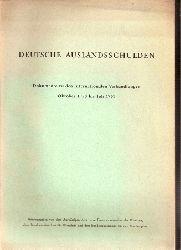 Auswärtiges Amt  Deutsche Auslandsschulden
