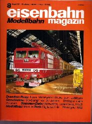 eisenbahn Modell magazin  eisenbahn Modell magazin 29.Jahrgang, Heft Nr. 8 / 1991