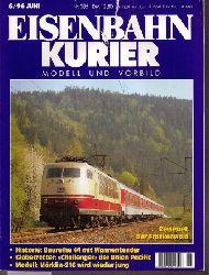 Eisenbahnkurier  Eisenbahnkurier 30.Jahrgang Heft Nr. 6 / 1996