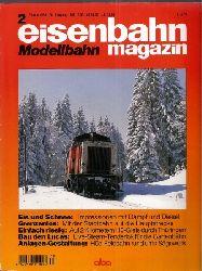 eisenbahn magazin Modellbahn  36.Jahrgang 1998, Heft 2