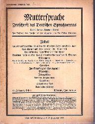 Muttersprache  Muttersprache 45.Jahrgang, Heft 1 Eismond / Januar 1930 (1 Heft)