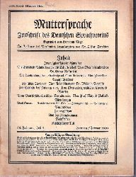 Muttersprache  Muttersprache 45.Jahrgang, Heft 2 Hornung / Februar 1930 (1 Heft)