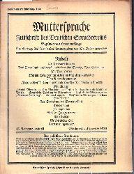 Muttersprache  Muttersprache 45.Jahrgang, Heft 11 Nebelmond / November 1930