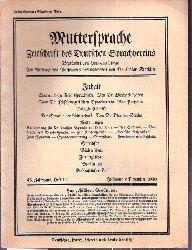 Muttersprache  Muttersprache 45.Jahrgang, Heft 12 Julmond / Dezember 1930