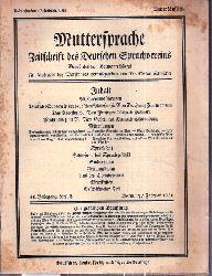 Muttersprache  Muttersprache 46.Jahrgang, Heft 2 Hornung / Februar 1931