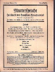 Muttersprache  Muttersprache 46.Jahrgang, Heft 4 Ostermond / April 1931