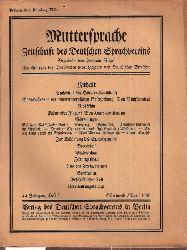 Muttersprache  Muttersprache 44.Jahrgang, Heft 4 Ostermond / April 1929
