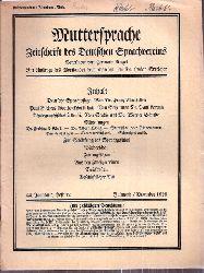 Muttersprache  Muttersprache 44.Jahrgang, Heft 12 Julmond / Dezember 1929