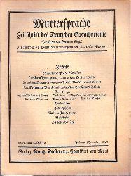 Muttersprache  Muttersprache 42.Jahrgang, Heft 12 Julmond / Dezember 1927